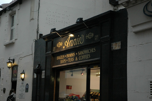 """The home of """"Annie's take away""""."""