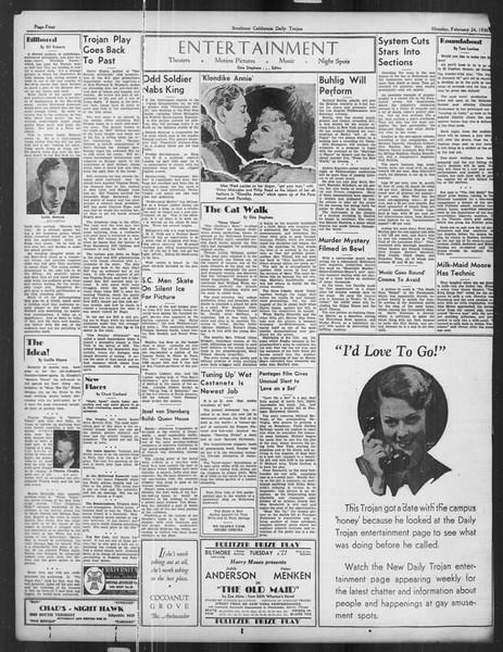 Daily Trojan, Vol. 27, No. 84, February 24, 1936