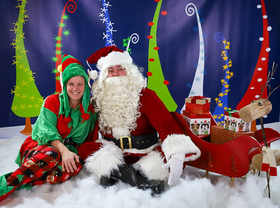 Chander & Ashley - Pet Pics with Santa