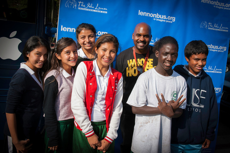 2012_10_05, Avid*, CA, Kings Middle School, Kyle Baudour*, lb.org, Location*, Los Angeles, Step and Repeat*, Student Tours, Tents*