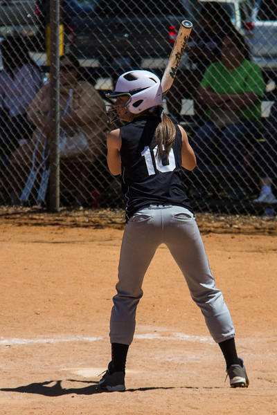 Mackenzie readies herself at the plate