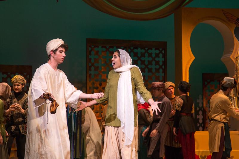 Hajj and Marsinah -- Kismet, Montgomery Blair High School spring musical, April 15, 2016 performance (Silver Spring, MD)