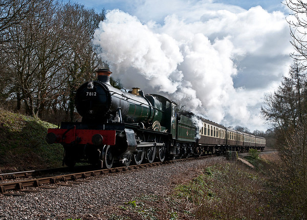 7812 on the West Somerset Railway