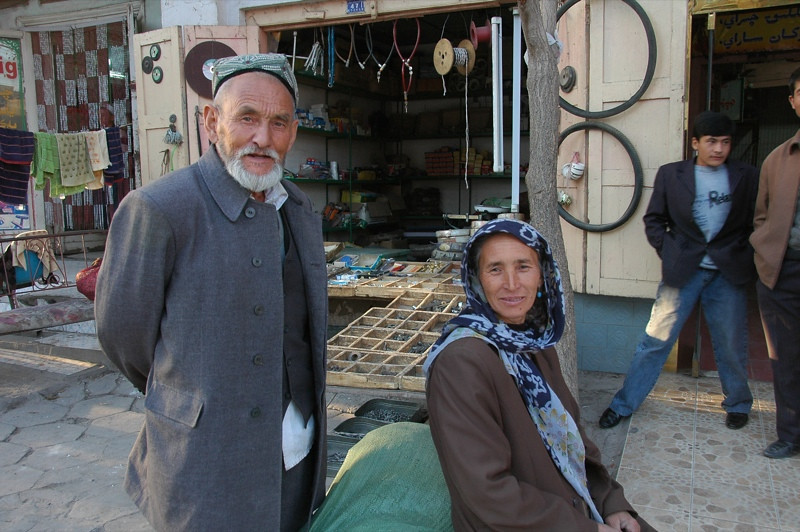 Uighur Old Couple - Kashgar, China
