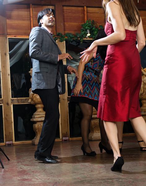 Dancing at wedding reception at the Vista on Seward Hill, Austin, TX.