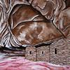 Fallen Roof, acrylic painting, Bears Ears National Monument, San Juan County, Utah