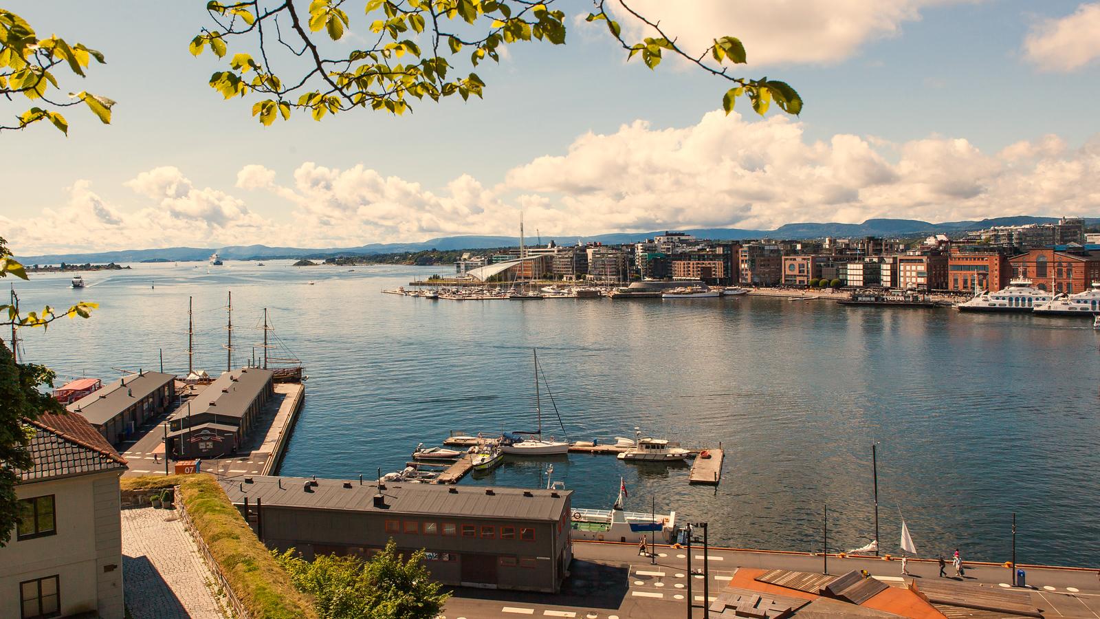 挪威奥塞罗,海港美景