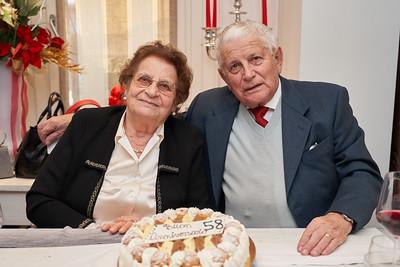 58° anniversario nonni Zanardo, 30.12.2019