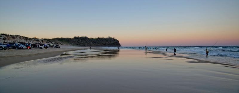 Sunset fishing near Indian Head, Fraser Island.