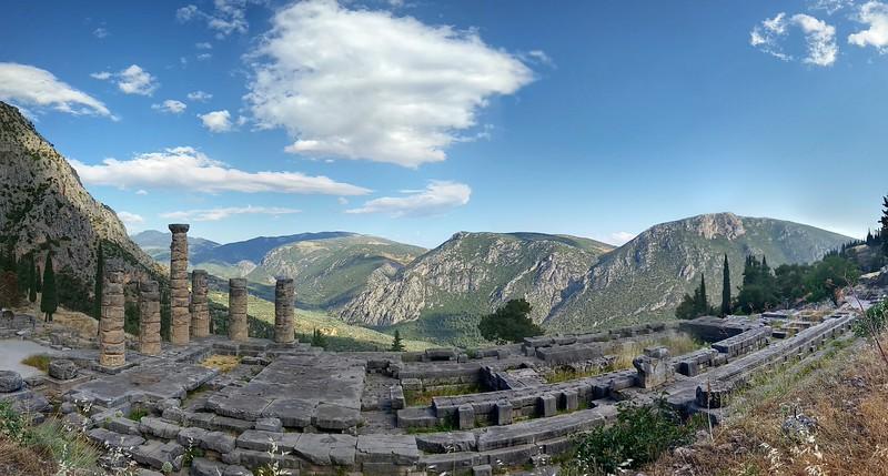 Delphi, Greece, oracle, apollo, fisheye, HDR