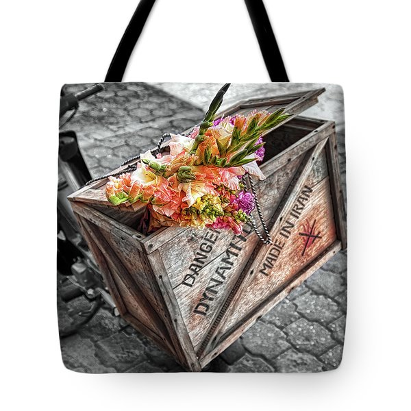 Flowers of Dynamite Tote Bag