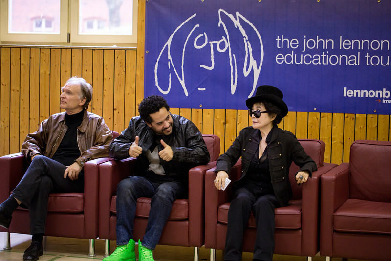 2013_10_15, Berlin, DE, eu.lb.org, Germany, JLETB, John Lennon Gymnasium, Premiere, Video Premiere, Yoko Ono, Adel Tawil, Brian Rothschild