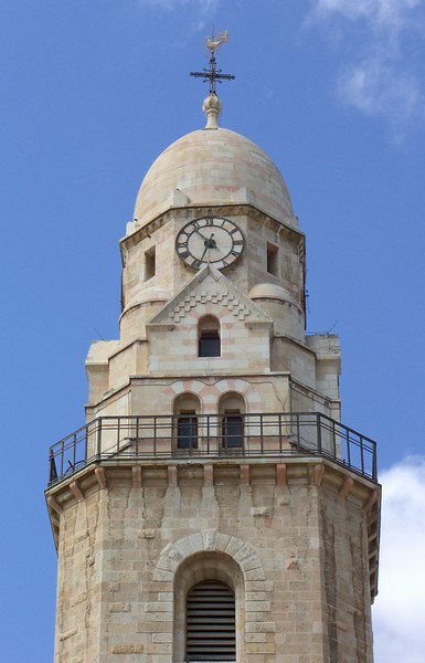 3-Dormition belltower, supposedly designed to look like Kaiser Wilhelm—helmet, eyes, mustache.