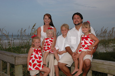 The Caleb Smith Family.St.Augustine Beach,Florida.                                        August 2009