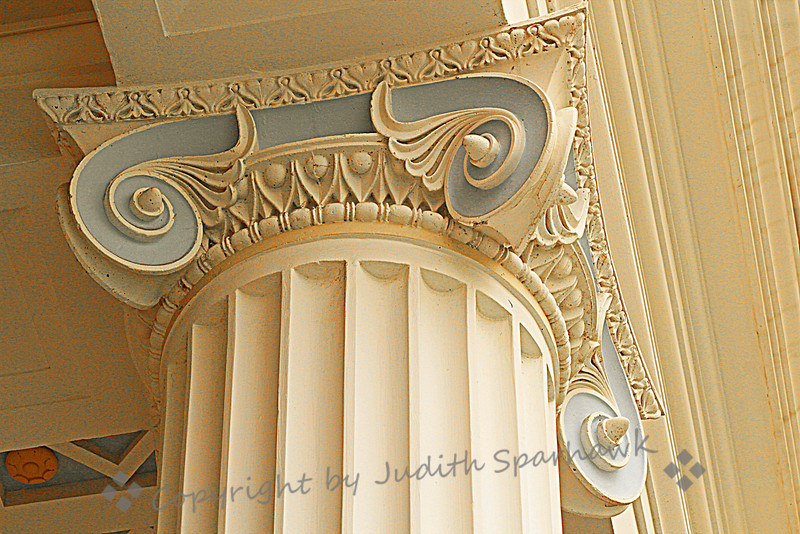 Getty Villa Decorative Column ~