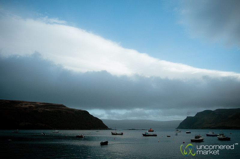 Portree Harbor and Boats - Isle of Skye, Scotland