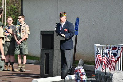 VFW Memorial Services and Flag retirement 2019