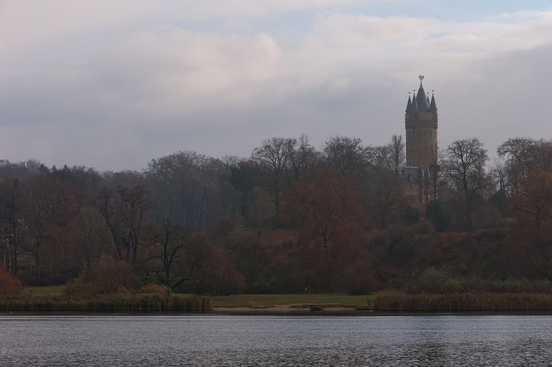 Wide shot of Lake Schwielowsee in Potsdam, Germany