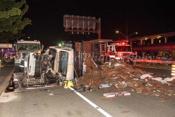 Bellmore Overturned Truck 08/04/2021