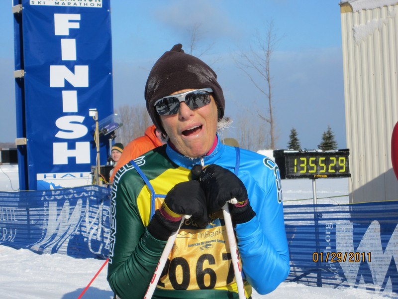 Gussie Peterson CCSS, 3rd place O/A Women's 25K Freestyle.