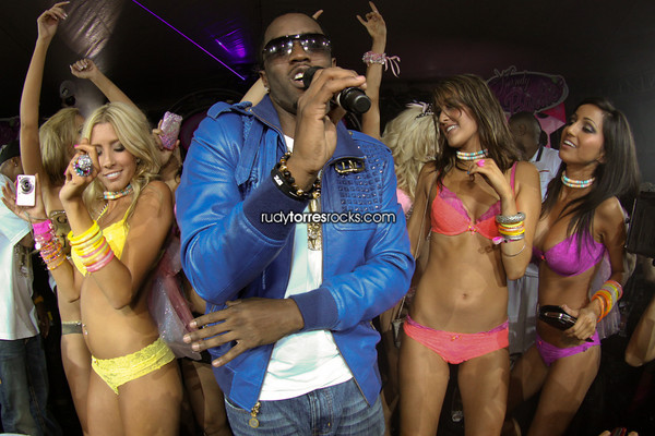 P. Diddy & Surprise Performances by Flo Rida, Rick Ross, DJ Khaled, Busta Ryhmes & Dirty Money at the Karma Foundation´s Kandyland at the Playboy Mansion 6.26.2010