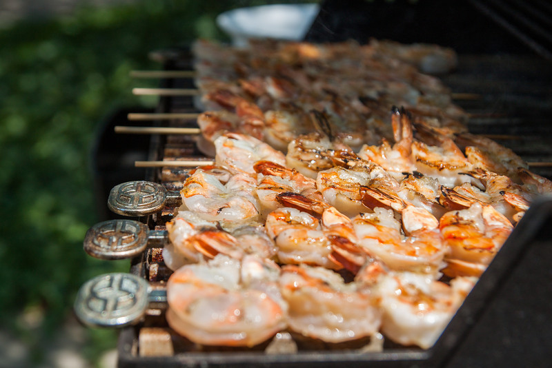 Grilled Garlic & Hot Pepper Shrimp