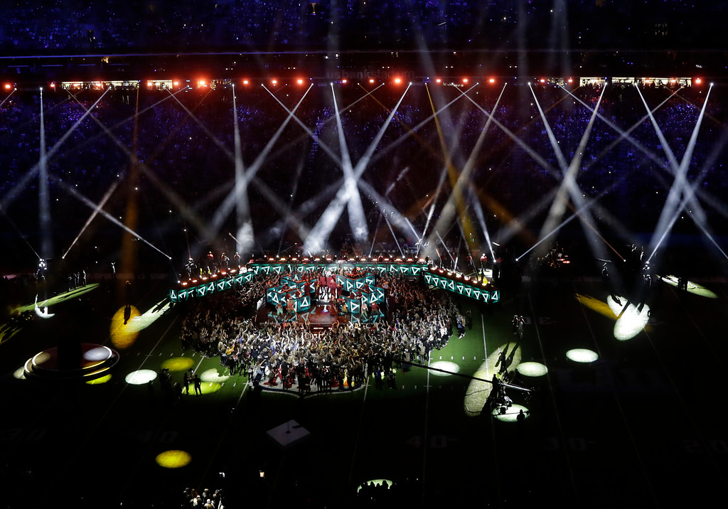 . Justin Timberlake performs during halftime of the NFL Super Bowl 52 football game Sunday, Feb. 4, 2018, in Minneapolis. (AP Photo/Eric Gay)