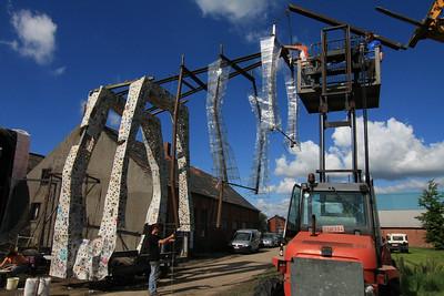 Bloemencorso 2008 - Wagenbouw (23 augustus)