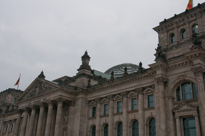 Reichstag Glass dome over the plenary hall in Berlin, Germany