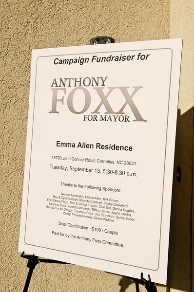 Mayor Foxx Fundraiser @ Emma Allen Residence 9-13-11