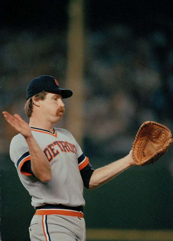 . Detroit Tigers pitcher Jack Morris prepares to deliver against the San Diego Padres in Game 1 of the 1984 World Series at Jack Murphy Stadium in San Diego, Oct. 9, 1984. The Tigers won 3-2. (AP Photo)