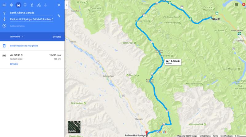 drive from banff to kootenay national park