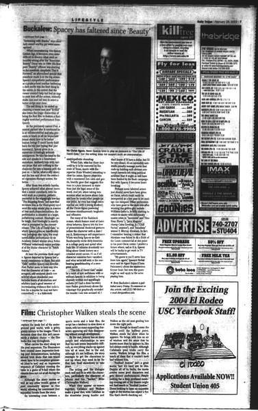 Daily Trojan, Vol. 148, No. 30, February 28, 2003