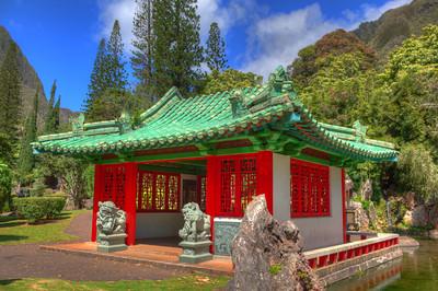 Chinese Pavilion, Kepaniwai Heritage Park, 'Iao Valley