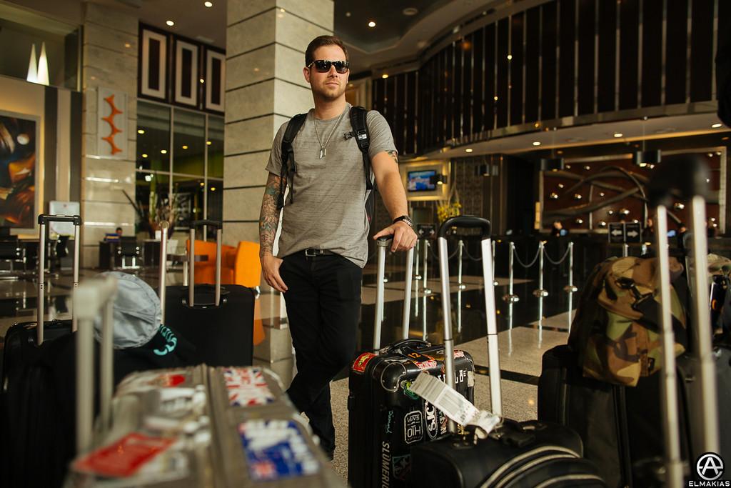 Kevin packs a few bags