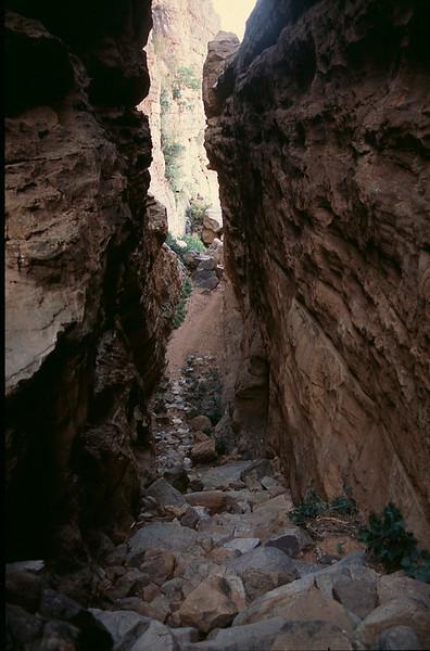 very precarious descent