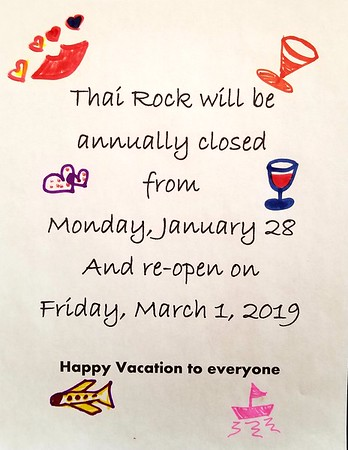 2019-01-28 Closed for the Season