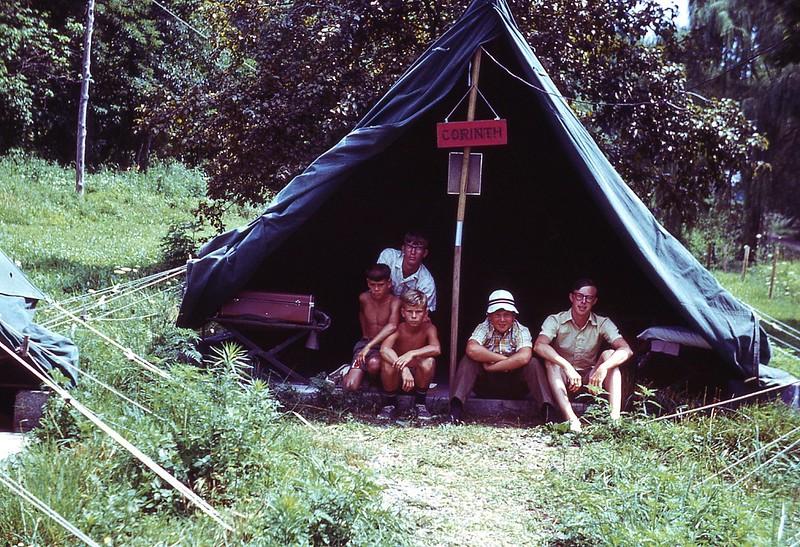 1970 WVS Boys at Corinth tent.jpg
