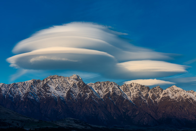 Lenticular Cloouds Over Remarkables, Queenstown