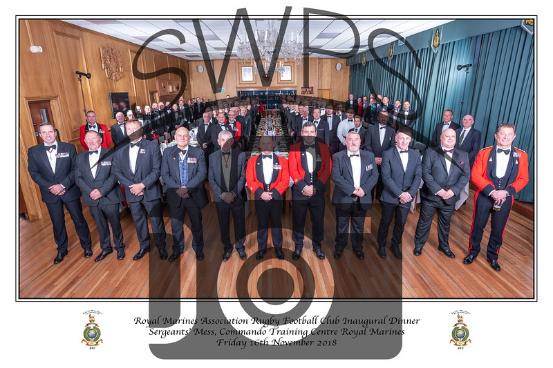 RMA RFC Regimental Dinner Group 2018