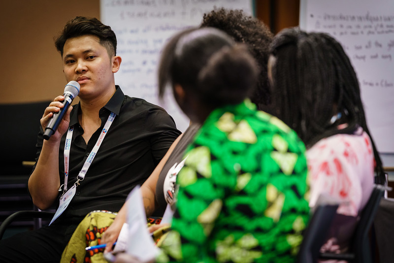 22nd International AIDS Conference (AIDS 2018) Amsterdam, Netherlands.   Copyright: Matthijs Immink/IAS  Young people at the centre: Community mobilization for youth-friendly HIV services  On the photo: Tung Doan Thanh