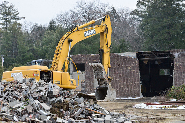 Demolition of the old Spofford Hall - 011521