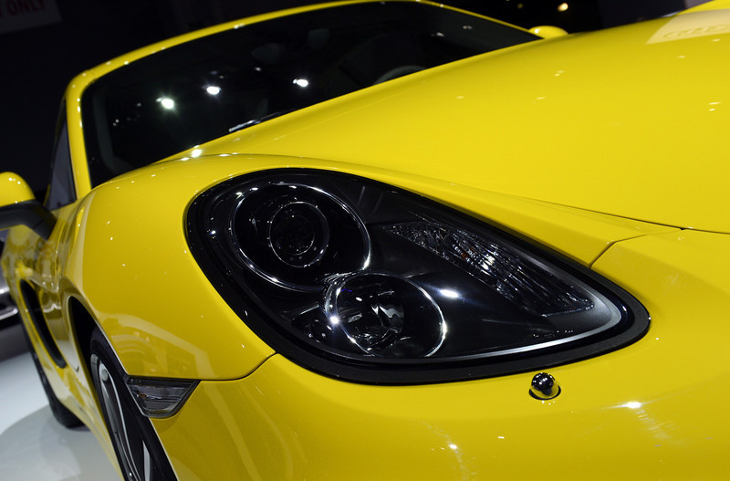 . A 2014 Porsche Cayman S on display during the second  press preview day at the New York International Auto Show March 28, 2013 in New York.   TIMOTHY A. CLARY/AFP/Getty Images