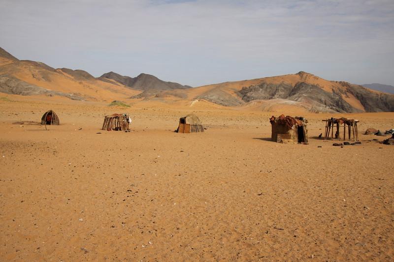 Nomadic Himba desert settlement