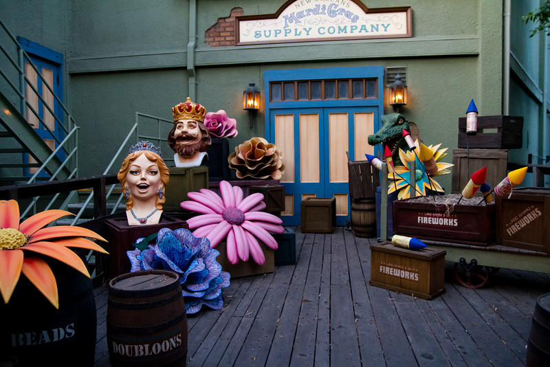 Mardi Gras Supply Company Behind New Orleans Square From The Disneyland Railroad