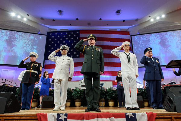 Roswell Street Patriotic Service 2018
