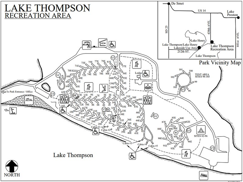 Lake Thompson Recreation Area (Campground Map)