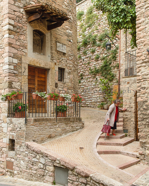 Off To Market , Assisi , Umbria