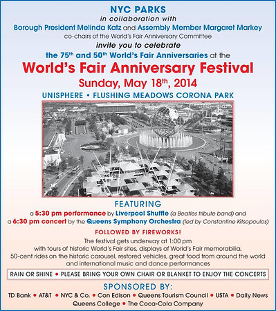 The 75th and 50th World's Fair Anniversaries at the World's Fair Anniversary Festival (5.18.14)