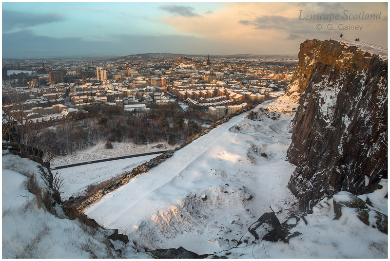 Central Edinburgh from Salisbury Crags